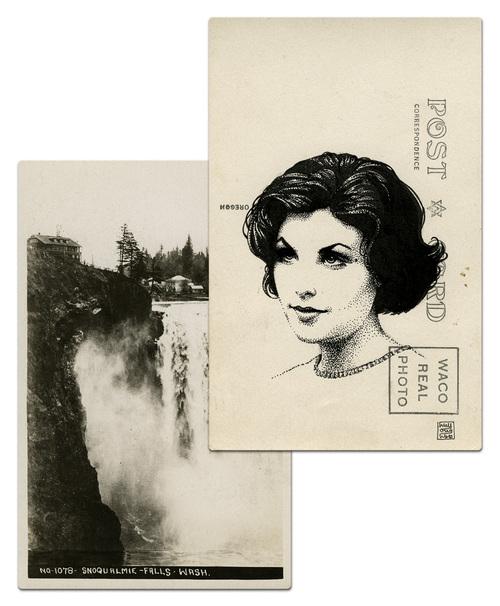 Почтовая открытка Одри Хорн