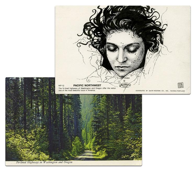Почтовая открытка Лора Палмер