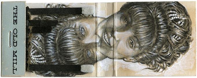 Твин Пикс в миниатюрных рисунках