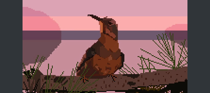 Заставка сериала Твин Пикс 8 бит