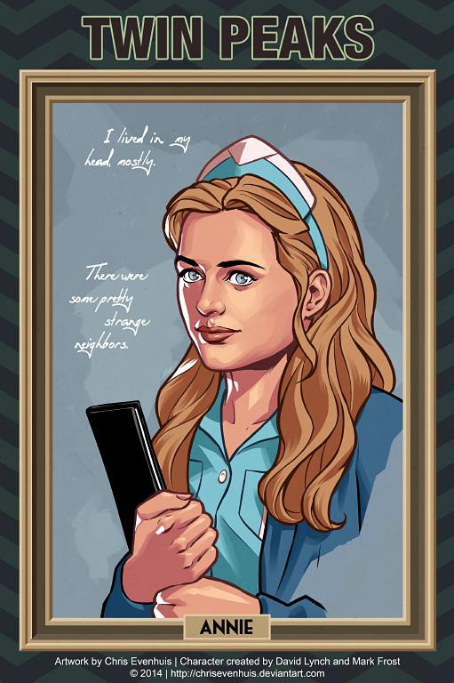 Энни Блэкберн портрет в стиле комиксов