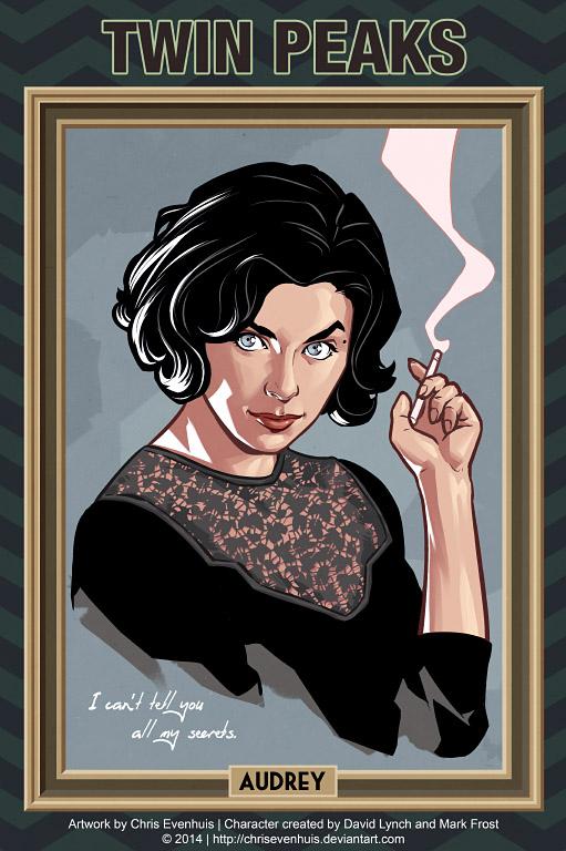 Одри Хорн портрет в стиле комиксов