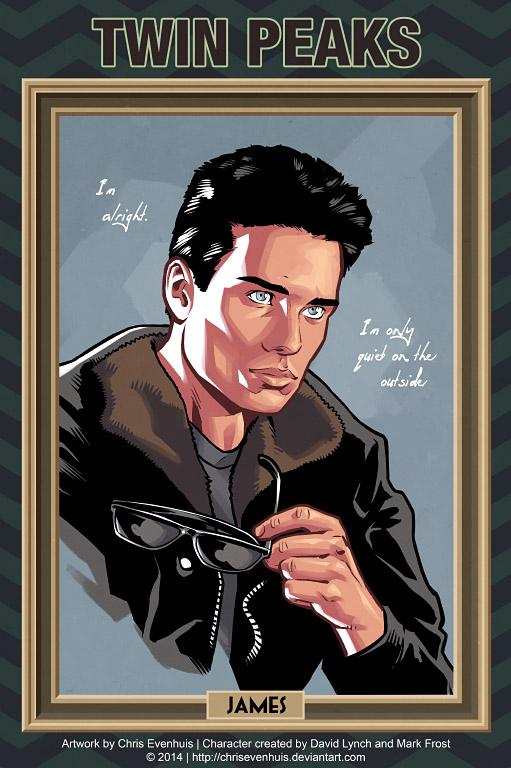 Джеймс Херли портрет в стиле комиксов