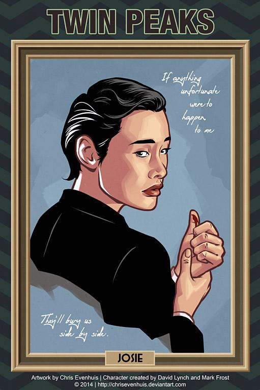 Джози Пэккард портрет в стиле комиксов