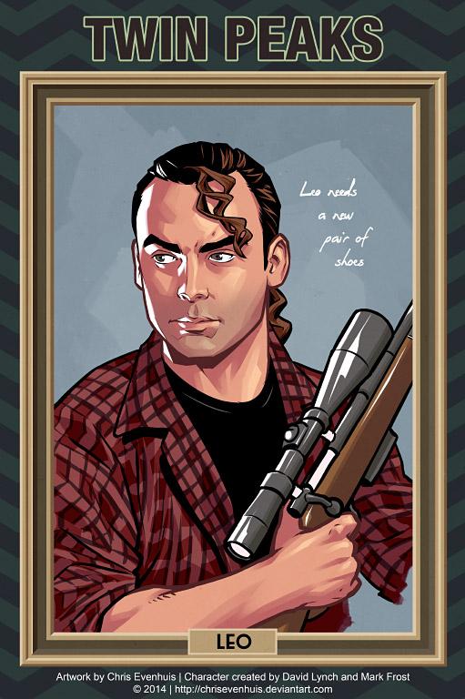 Лео Джонсон портрет в стиле комиксов