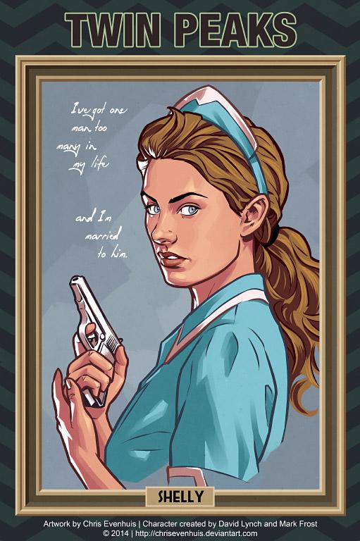 Шелли Джонсон портрет в стиле комиксов