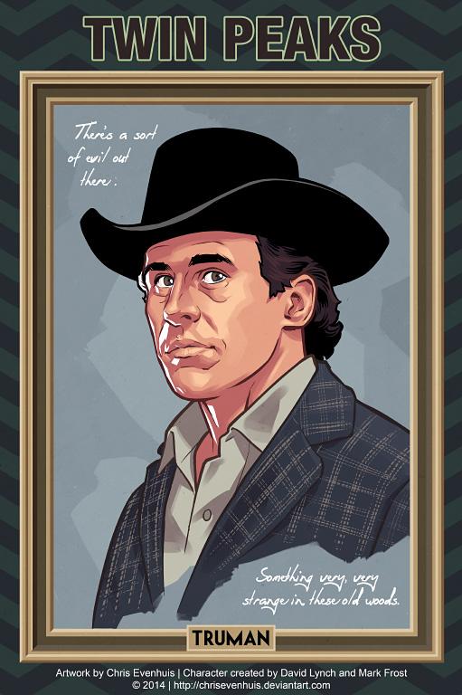 Шериф Гарри С. Трумэн портрет в стиле комиксов