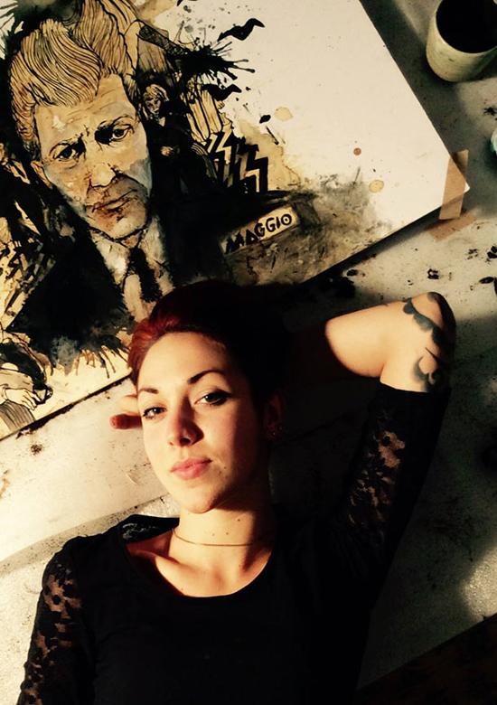 Каролина Мэггио портрет Дэвида Линча