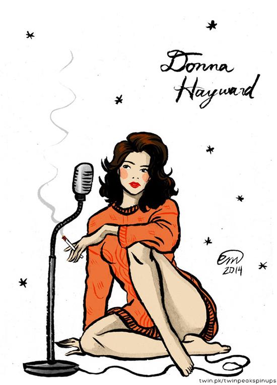 Донна Хейворд пин-ап