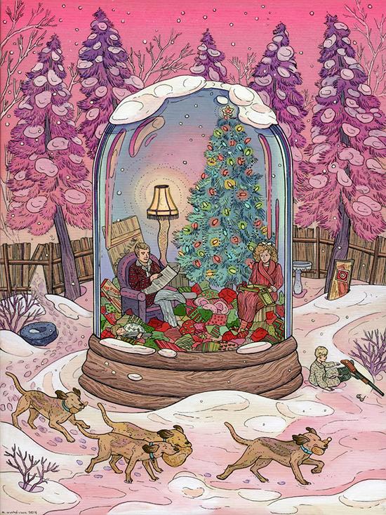 Иллюстрация Рождественская история