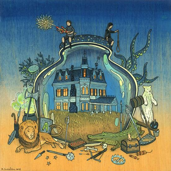 Иллюстрация Семейка Аддамс