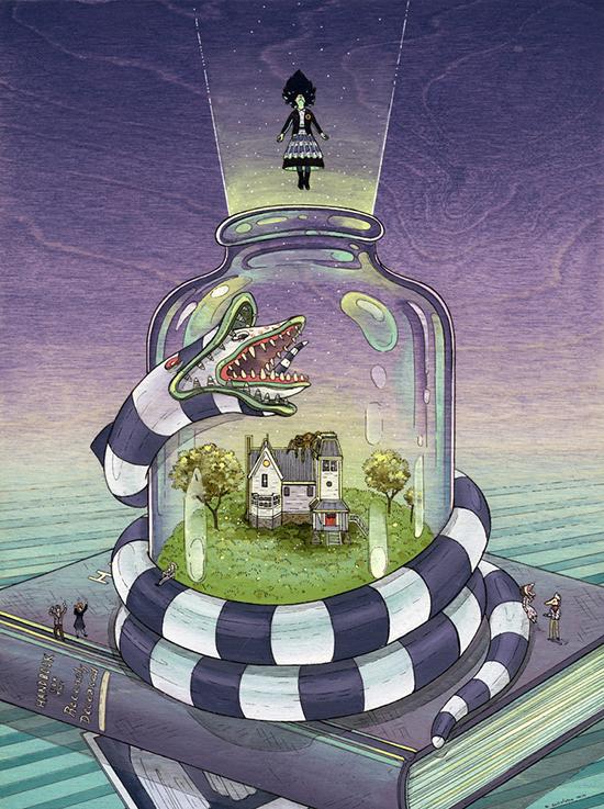 Иллюстрация Битлджус