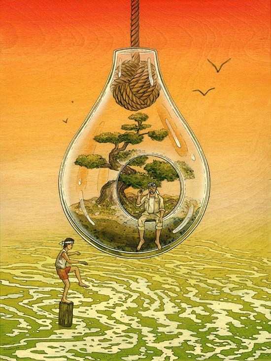 Иллюстрация Парень каратист