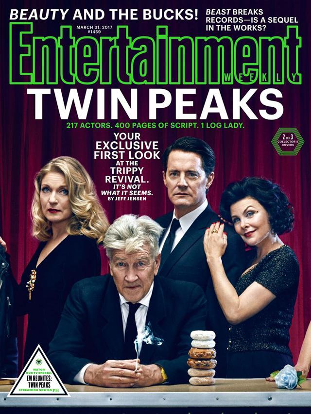 Entertainment Weekly - Обложка Твин Пикс: Лора, Дэвид Линч, Купер и Одри