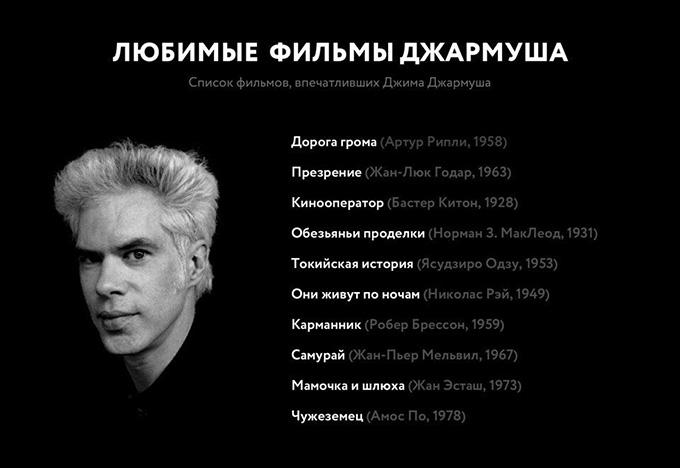 Список любимых фильмов Джима Джармуша