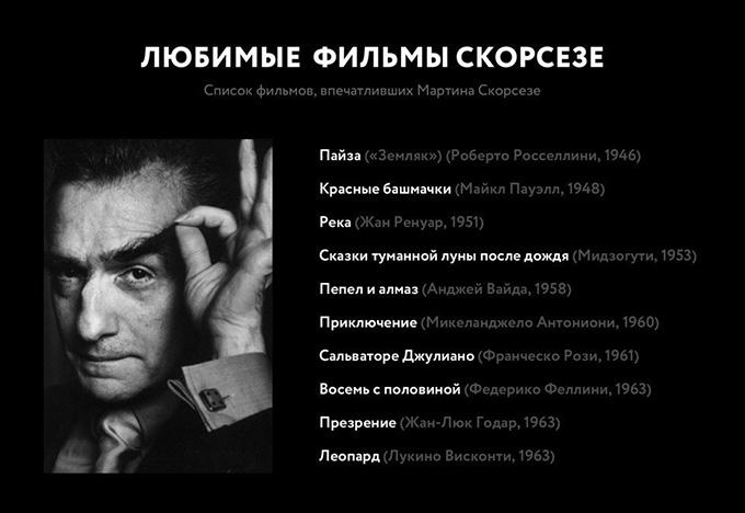Список любимых фильмов Мартина Скорсезе