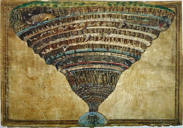 Сандро Боттичелли Карта ада