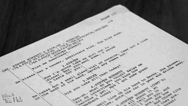 Найдены 2 страницы сценария 5 и 8 серии 3 сезона Твин Пикс